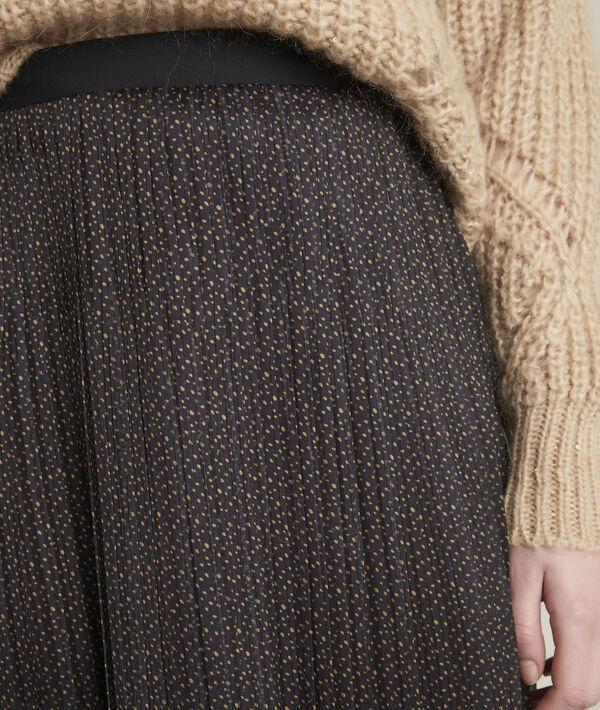 Jupe longue plissée imprimé pois Bulle PhotoZ | 1-2-3