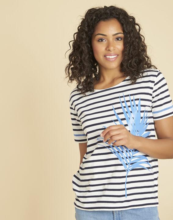 Tee-shirt marine rayé imprimé Emerine PhotoZ | 1-2-3