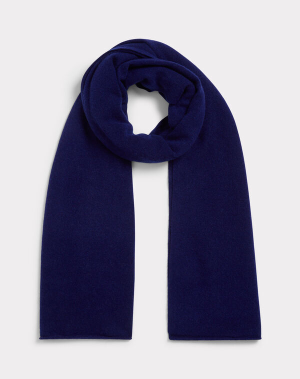 Echarpe bleue en cachemire tournesol à