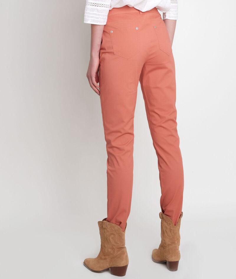 Pantalon droit en coton rouge orangé Francis PhotoZ   1-2-3