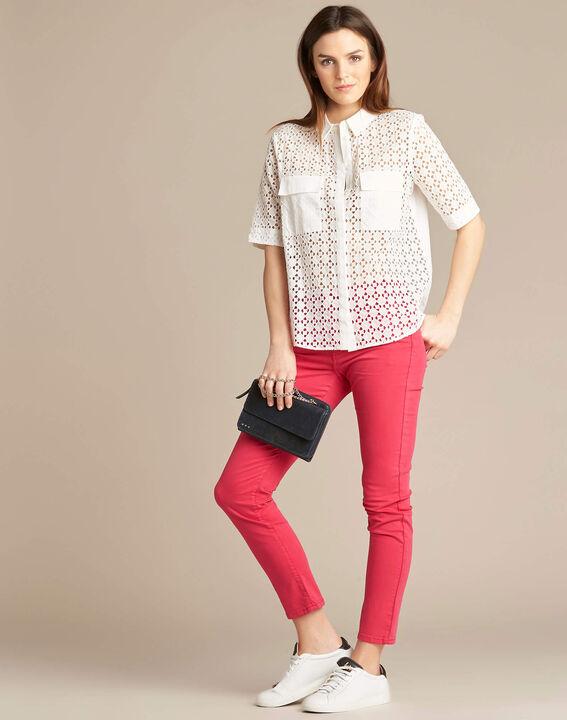 Vendôme slim-cut standard size fuchsia jeans (2) - 1-2-3
