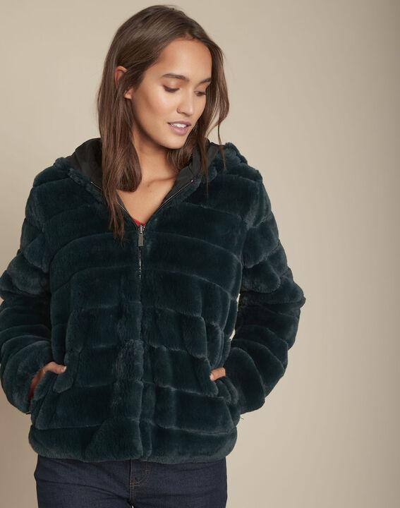 Manteau en fausse fourrure cyprès Laura PhotoZ | 1-2-3