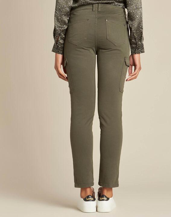 Damien 7/8 length khaki safari trousers (4) - 1-2-3