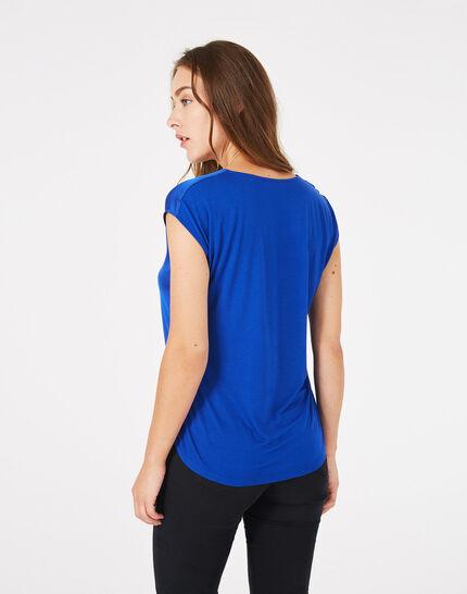 Tee-shirt bleu roi Blanche (4) - 1-2-3