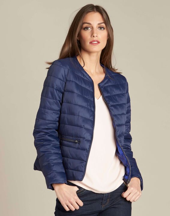Yvana navy blue fine quilted jacket (3) - 1-2-3