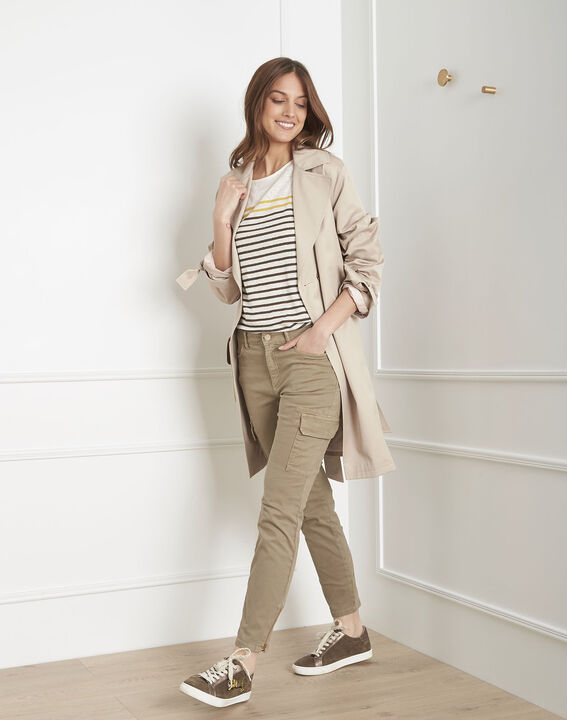 Pantalon kaki cargo Carolina (2) - Maison 123