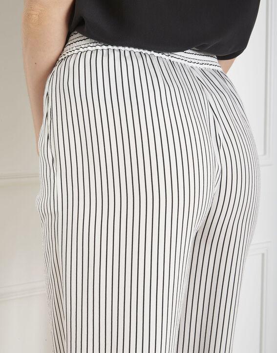 Pantalon blanc large rayé Goyave (3) - Maison 123