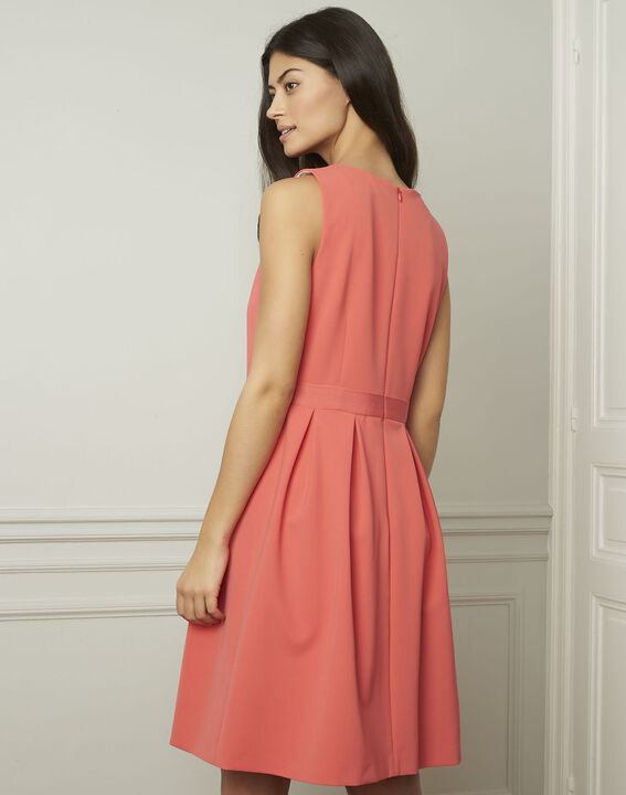 Isis round coral-coloured dress (3) - Maison 123