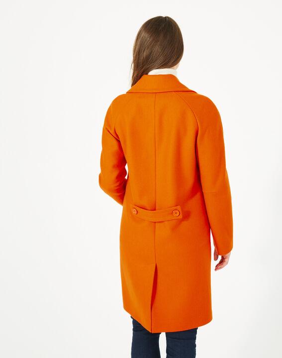 Manteau orange en laine Justin (5) - 1-2-3