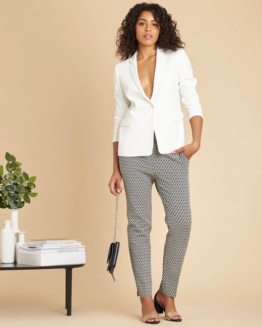 Christy white buttoned blazer (1) - 1-2-3