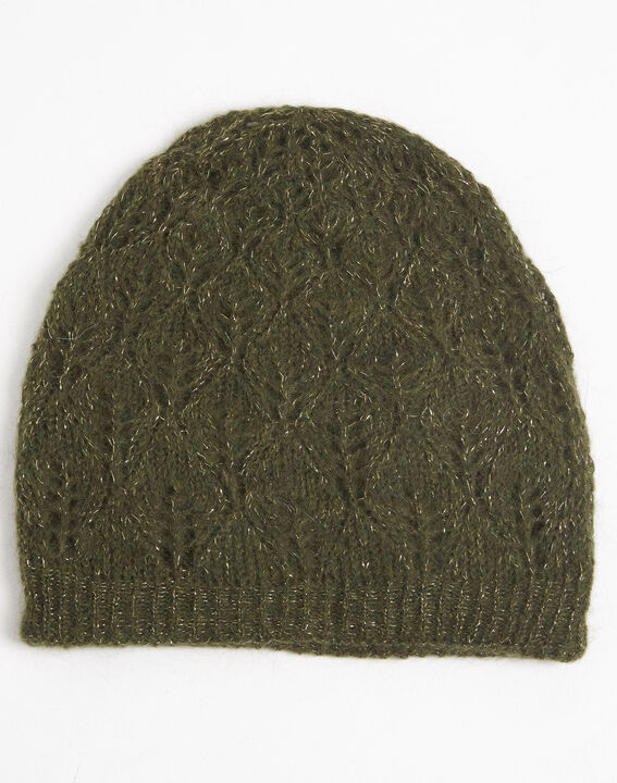 Ursula khaki hat with decorative stitches (2) - Maison 123