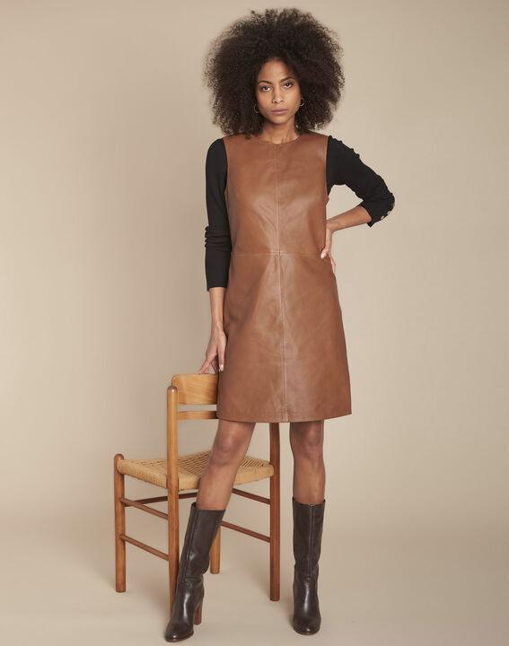 Robe en cuir acajou Izzie PhotoZ | 1-2-3