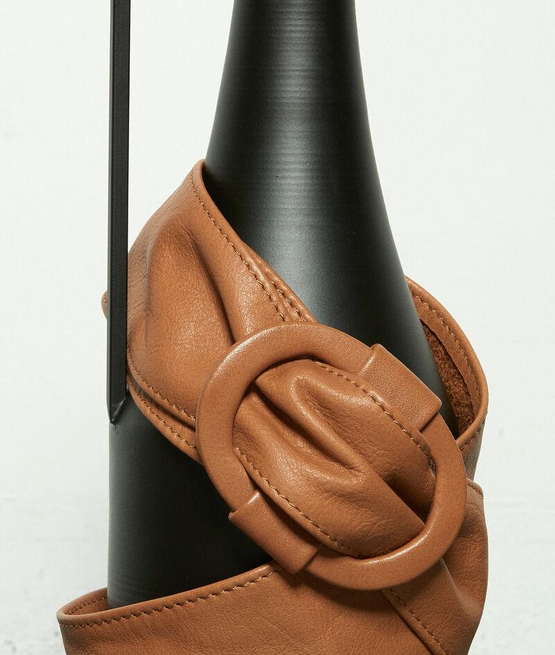 Ceinture large en cuir souple camel Elya PhotoZ | 1-2-3