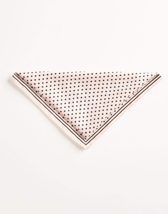 Adelita pale pink square scarf with polka dots (2) - 1-2-3