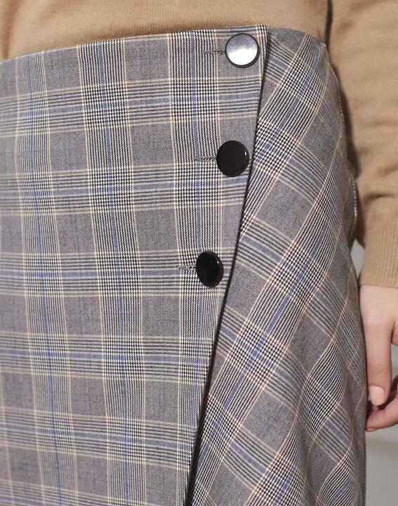Jupe portefeuille motif Prince de Galles Amanda (3) - 1-2-3