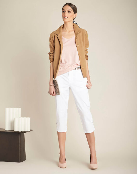 Eaven pale pastel T-shirt with low neckline (2) - 1-2-3