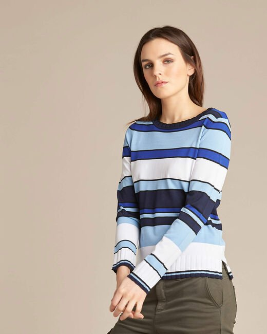 Newave blue striped sweater (2) - 1-2-3