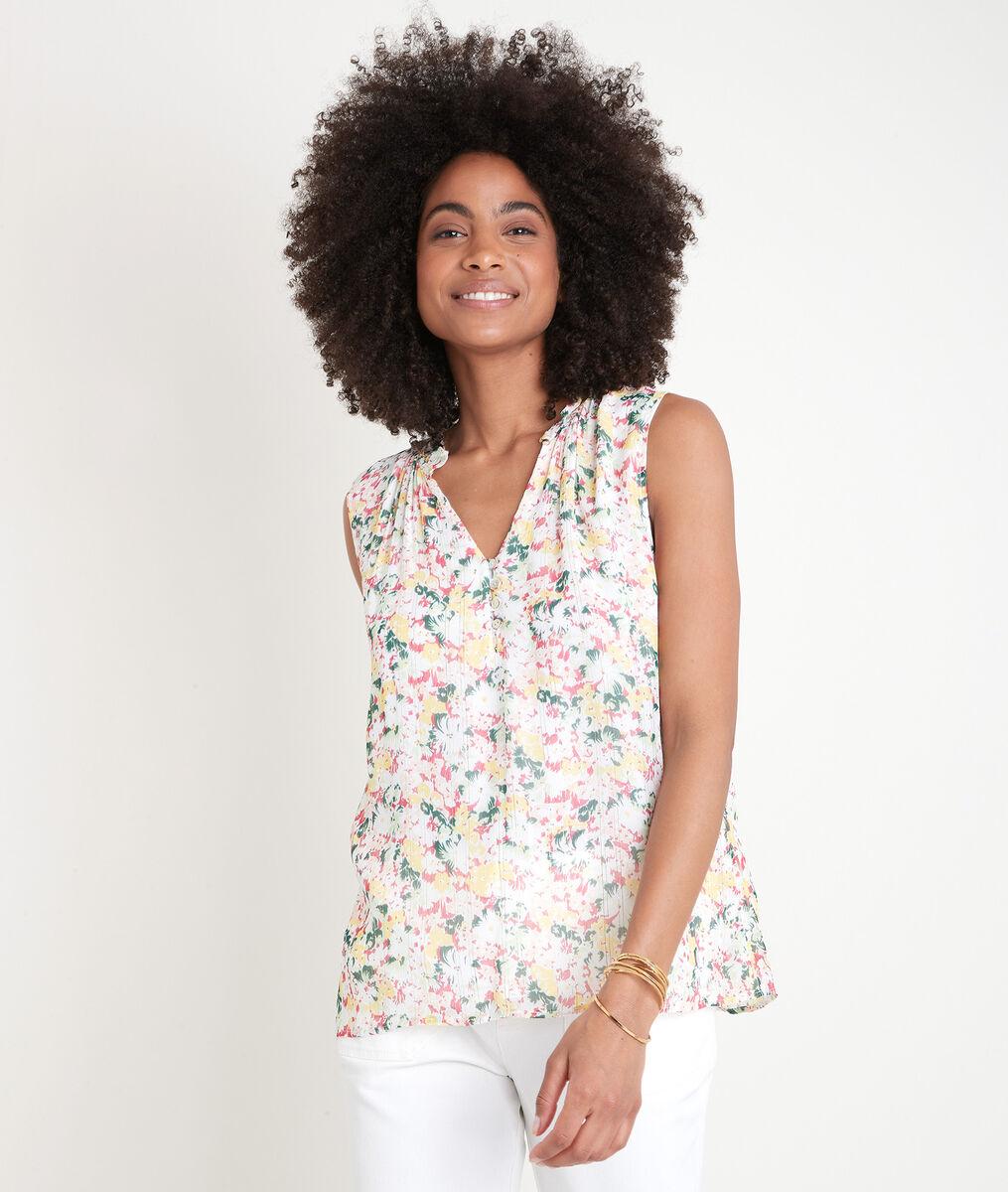 Mouwloze blouse met print Aless PhotoZ | 1-2-3