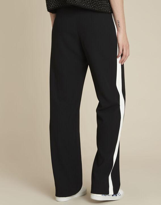 Pantalon noir large bande côté Hirvine (4) - 1-2-3