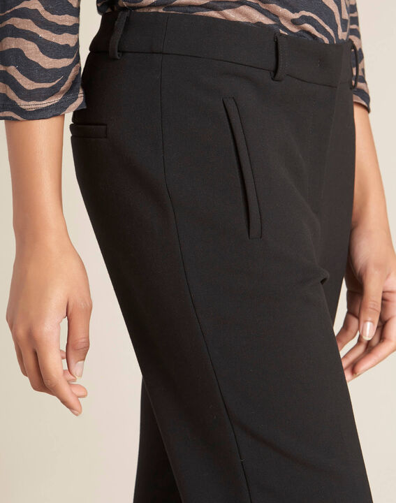 Valero black fitted trousers with zips PhotoZ | 1-2-3