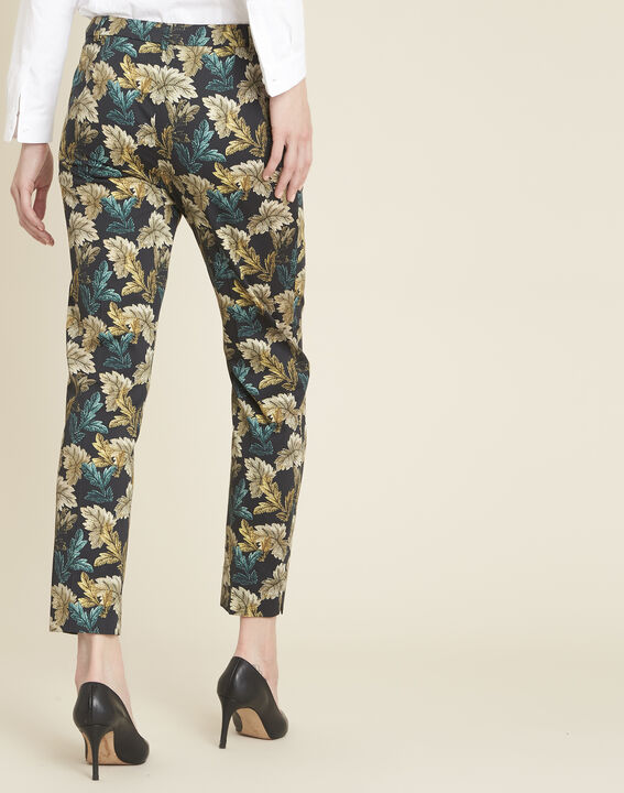 Viva tapered trousers with leaf print (4) - 1-2-3