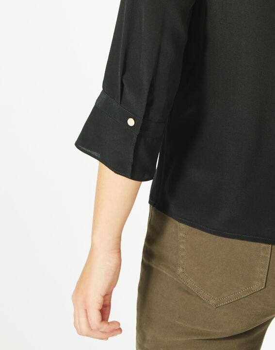 Blouse noire en soie Dorothée (3) - 1-2-3