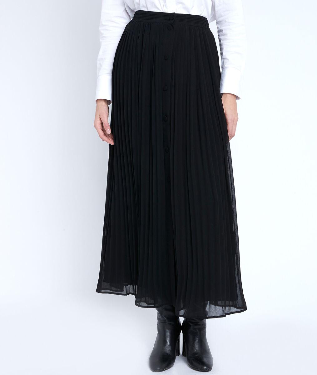 Jupe plissée noire Eva PhotoZ | 1-2-3