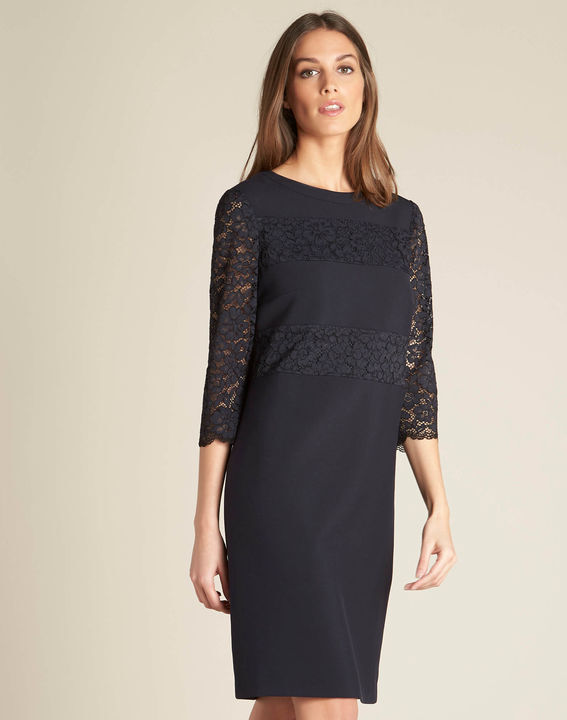 Polly navy blue lace dress PhotoZ | 1-2-3