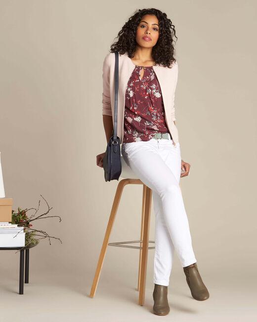 Bordeauxrode blouse met print Anouchka (1) - 37653