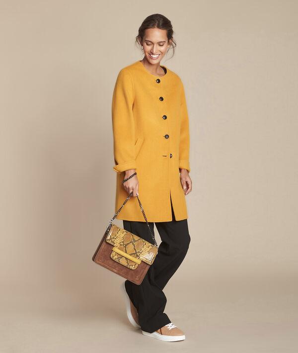 Manteau jaune double face en laine mélangée Thea PhotoZ | 1-2-3