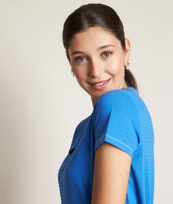 Tee-shirt bleu Reglisse PhotoZ   1-2-3