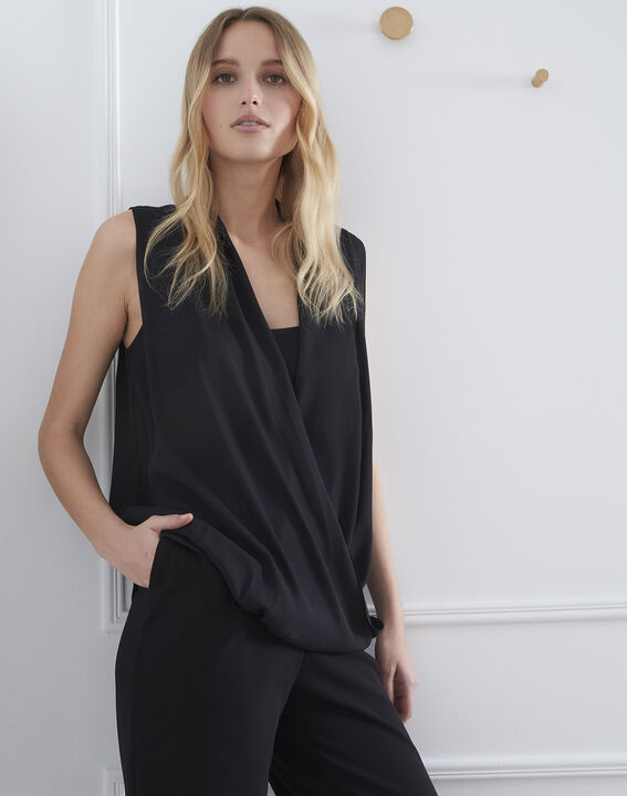 Verone black wrap around top (1) - Maison 123