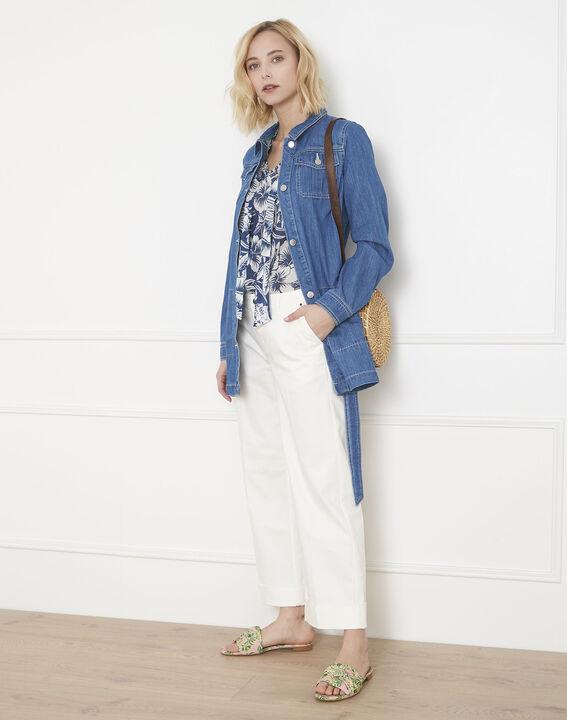 Kurze Jeans, ecrufarben, ausgestellt Carla (5) - Maison 123