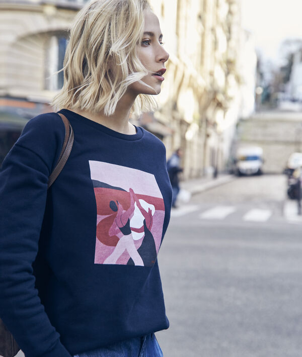 Sweatshirt marineblau Damen Internationaler Frauentag PhotoZ | 1-2-3