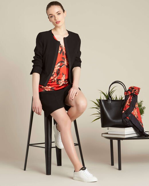Romy red blouse with a floral print (1) - 1-2-3