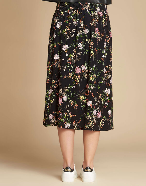 Lassie black floral printed skirt (4) - 1-2-3