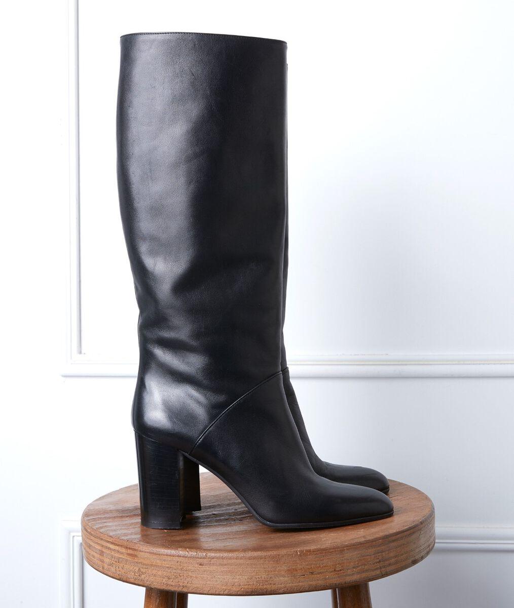 Bottes hautes en cuir noires Velia PhotoZ | 1-2-3