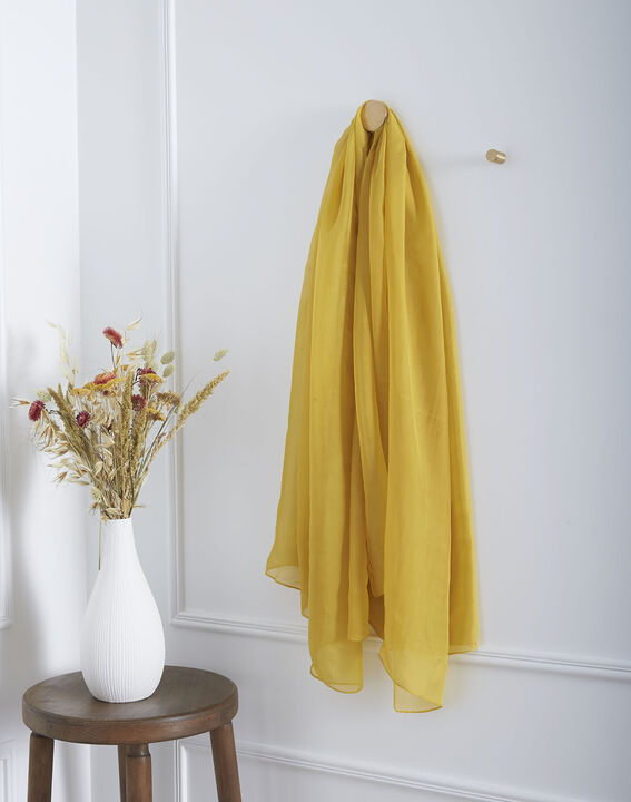 Foulard jaune en soie Alice PhotoZ | 1-2-3