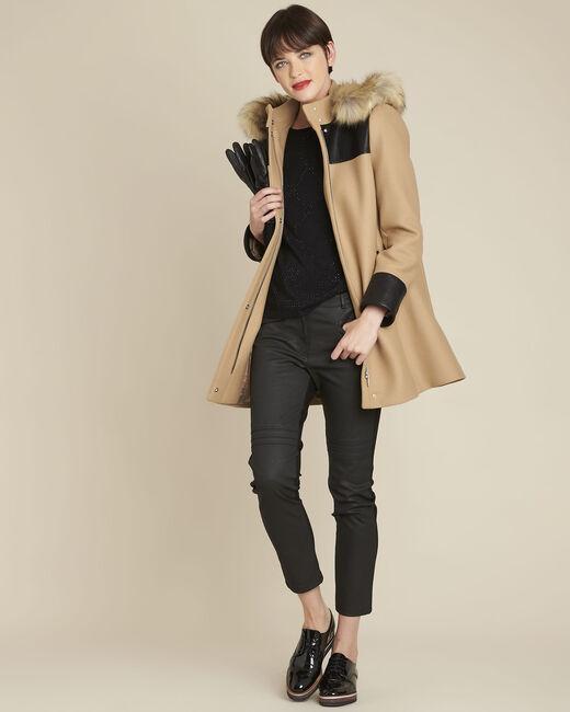 Schwarzer Pullover mit Strass Brio (1) - 1-2-3