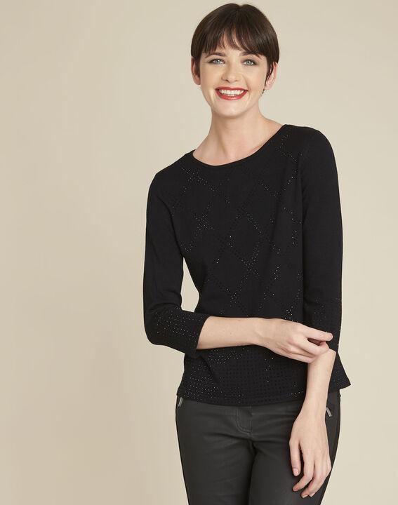 Brio black rhinestone pullover (1) - 1-2-3