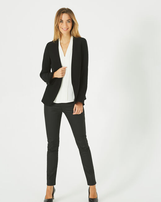 Mascara black belted jacket (1) - 1-2-3