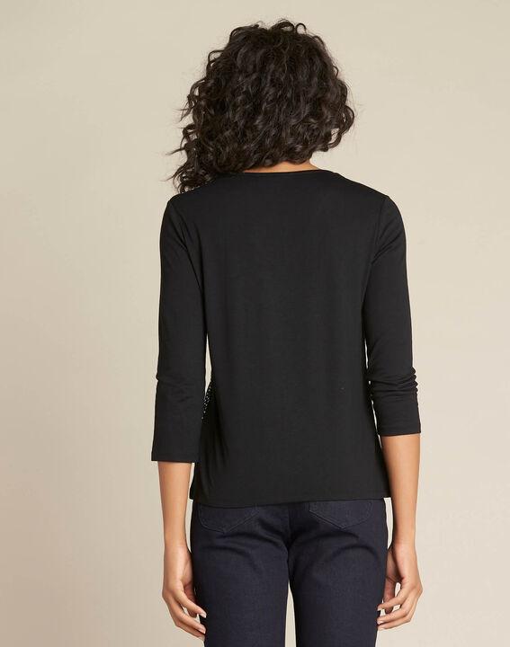 Eballoon printed black T-shirt with 3/4 length sleeves (4) - 1-2-3