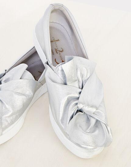 Natanael silver tie trainers (2) - 1-2-3