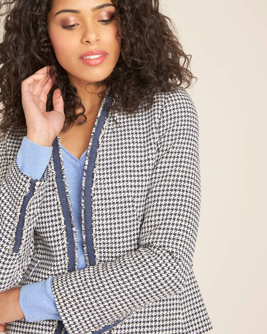 Carmela houndstooth print jacket (2) - 1-2-3