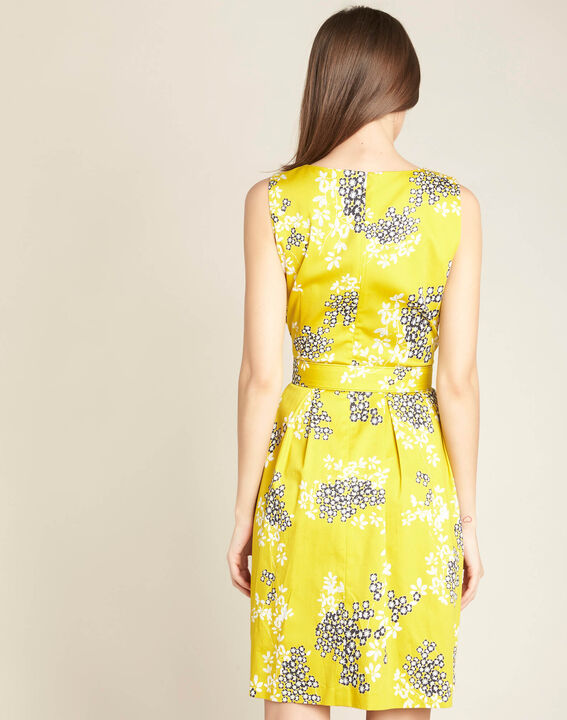 Irma yellow corolla printed dress (4) - 1-2-3
