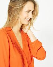 Orangefarbene langarm-bluse doris orange.