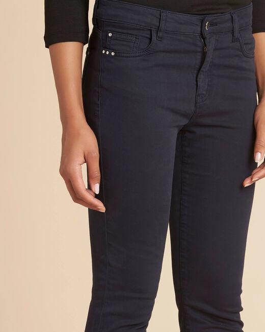 Marineblaue Slim-Fit-Jeans normale Leibhöhe Vendome (2) - 1-2-3