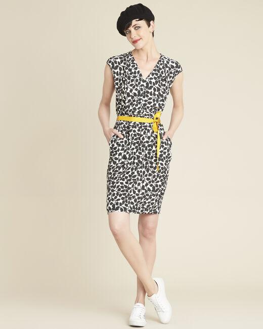 Dallas leaf-print dress with grosgrain belt (1) - 1-2-3