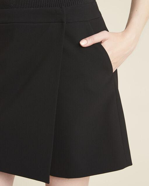 Short-jupe noire en microfibre Heliot (2) - 1-2-3