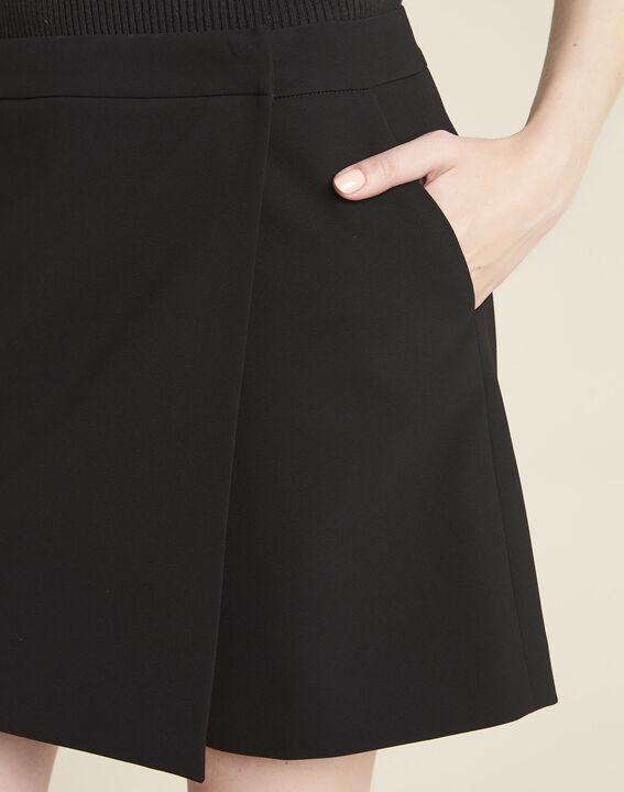 Short-jupe noire en microfibre Heliot (3) - 1-2-3